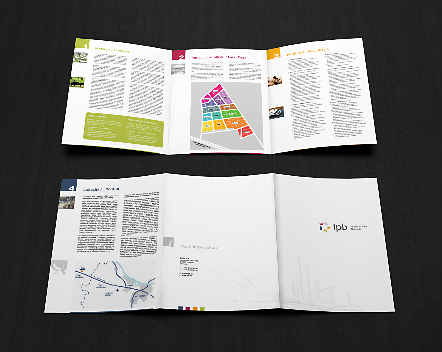 Industrial Park Belgrade Promotional Brochure Design
