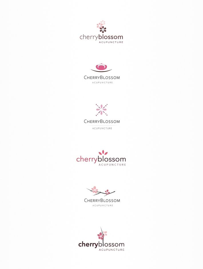 Cherry Blossom Acupuncture Logotype Variants
