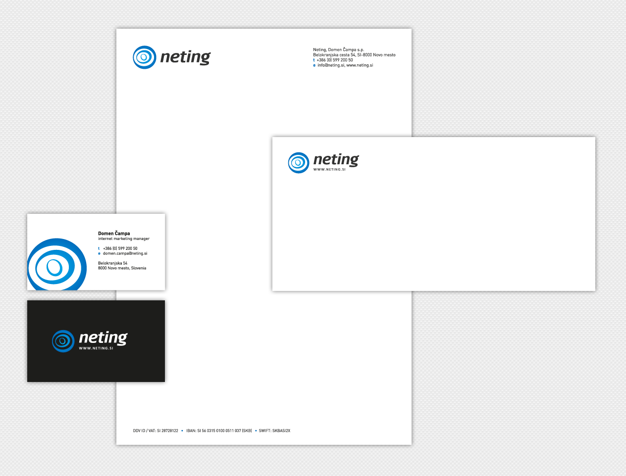 Neting Visual Identity & Stationery