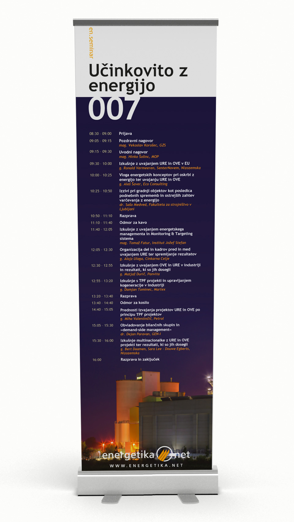 Energetika.NET 007 seminar roll-up banner