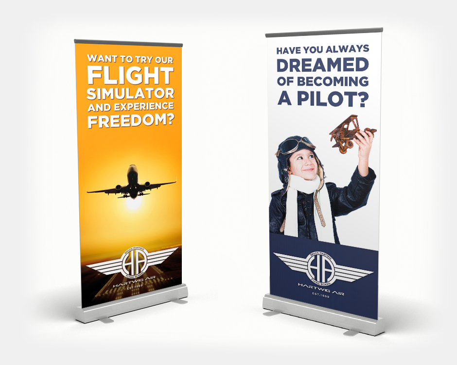 Flying School Roll-Up Banner Design