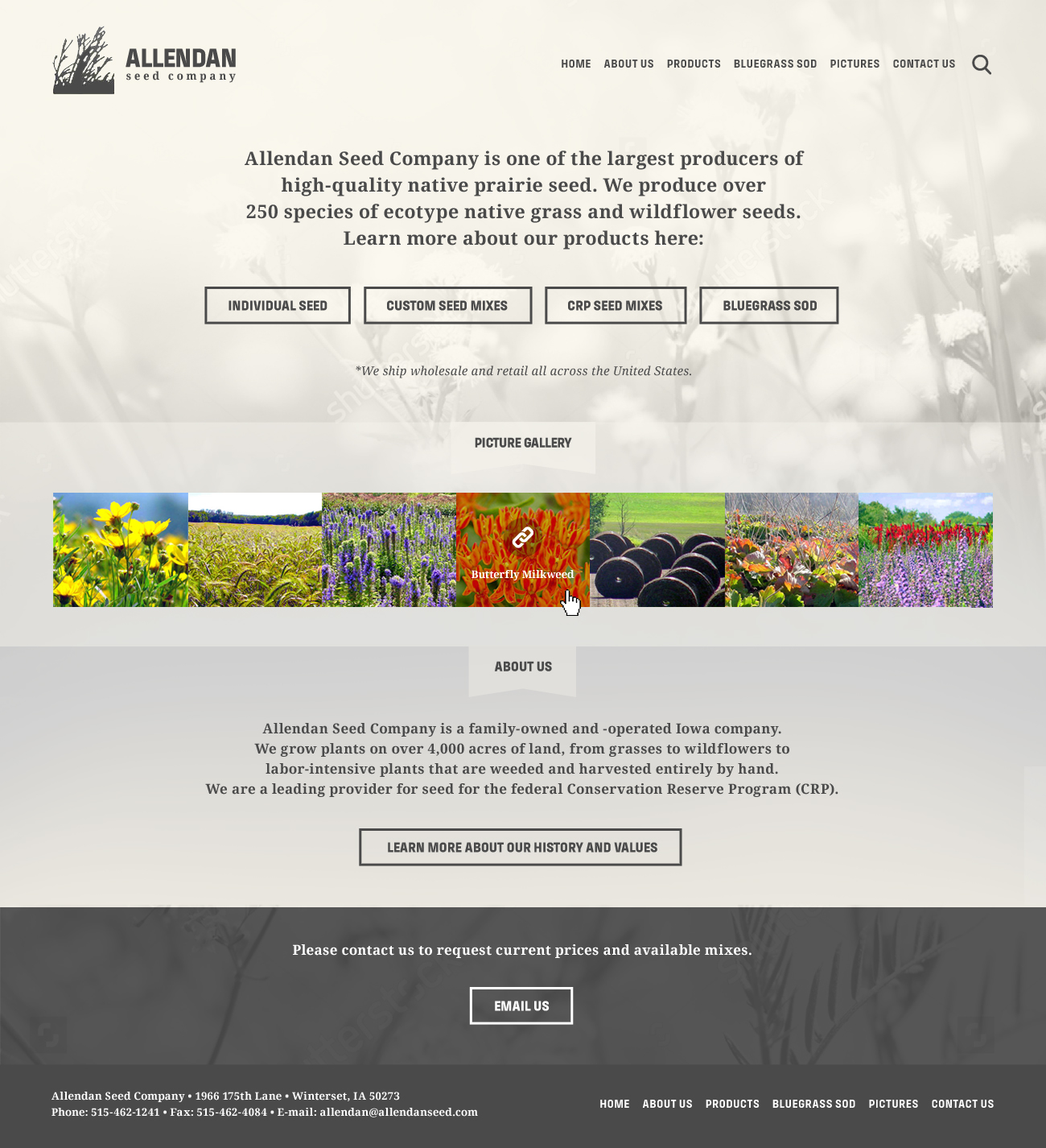 Allendan Seed / Website – Cubio Visual Solutions | Quality Graphic ...